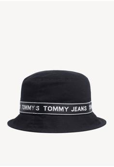 898a46d0 Tommy Hilfiger Tjm Logo Tape Bucket Hat RM 329.00. Sizes One Size