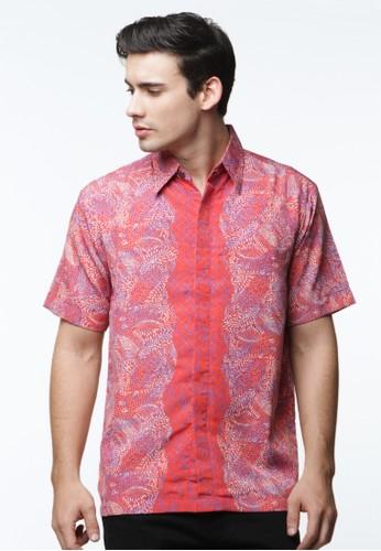 Waskito Hem Batik Semi Sutera - HB 10568 - Red