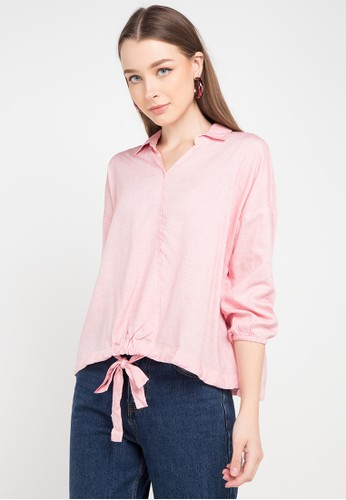 Logo Jeans pink Flaming Shirt 35A87AA214304AGS_1