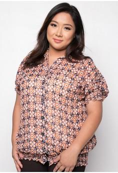 Ojie Plus Size Short Sleeves Blouse