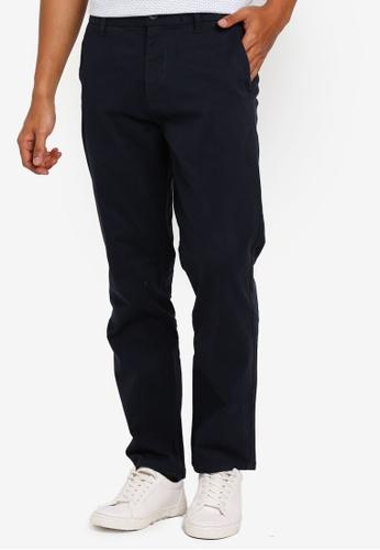 Burton Menswear London 海軍藍色 直筒卡其褲 9A724AA9000471GS_1