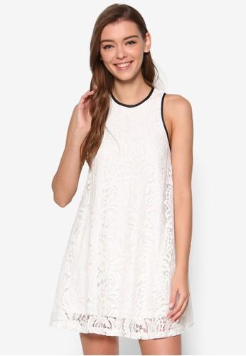 Charisse 滾邊蕾絲寬擺洋裝, 服飾,esprit品牌介绍 洋裝