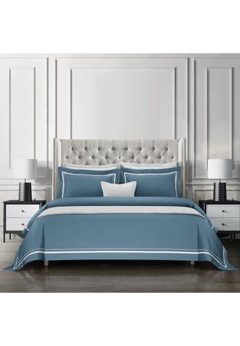 Epitex Epitex Hotel Collection HC2301-8 1200TC Grey Blue / White Bedset. AD79AHL48E9D48GS_1