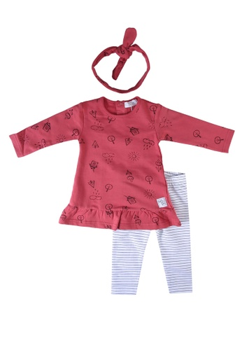 Babybol red 2 Pieces Set With Hair Ribbon 9C948KAB5A435AGS_1