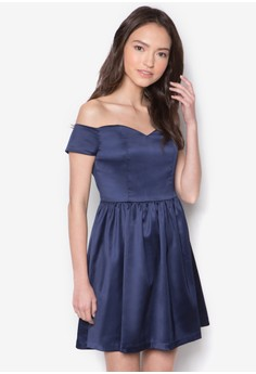 Love Off Shoulder Fit And Flare Dress