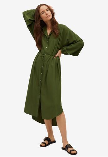 Mango green Midi Shirt Dress AF2C9AADDA1A5AGS_1