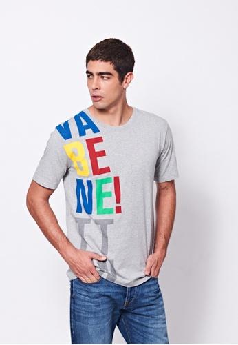 United Colors of Benetton grey Logo Printed T-shirt 9F4C8AA93EBA5BGS_1