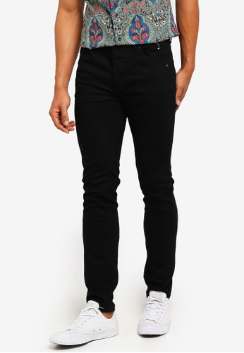 Topman 黑色 窄管牛仔褲 3FC24AA6170D39GS_1