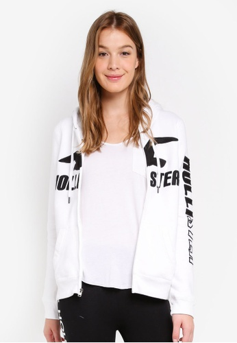 Hollister white Tech Core Logo Street Hoodie 226ADAAE28A527GS_1