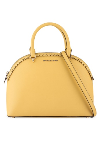 MICHAEL KORS yellow Emmy Lg Dome Satchel Bag (nt) 5AE2CACD8F3CB8GS_1