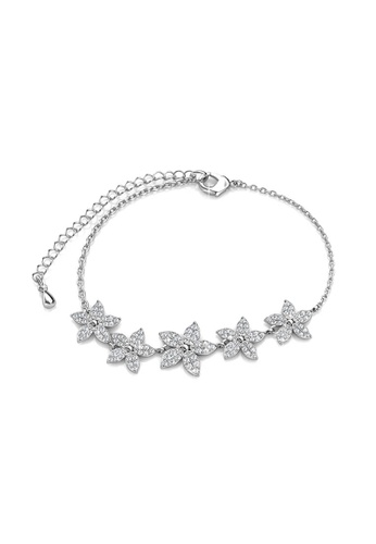 Her Jewellery Bloom Bracelet -  Embellished with Crystals from Swarovski® A9C30ACAE382D1GS_1