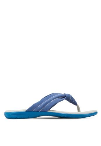 Le Sandee blue Comfy Flip Flops LE906SH83NEQMY_1