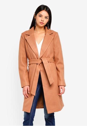 ONLY brown Rachel Wool Coat 2FAC9AA9EE68BEGS_1
