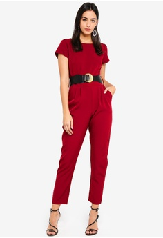 99d67982391 Dorothy Perkins red Berry Belted Jumpsuit 9E9E6AA3872AF7GS 1