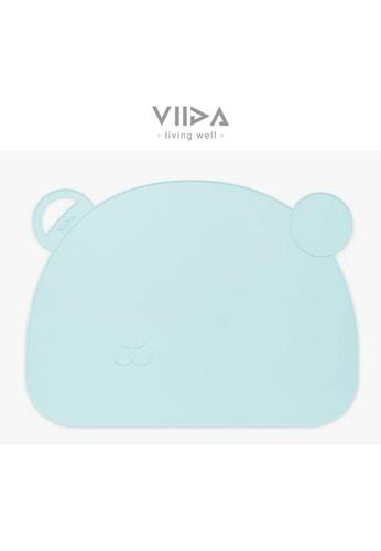 Viida [VIIDA] The Joy Series Slip-proof Placemat, Summer Blue - Eco-Friendly & FDA Certified AD54FHL7C41E49GS_1