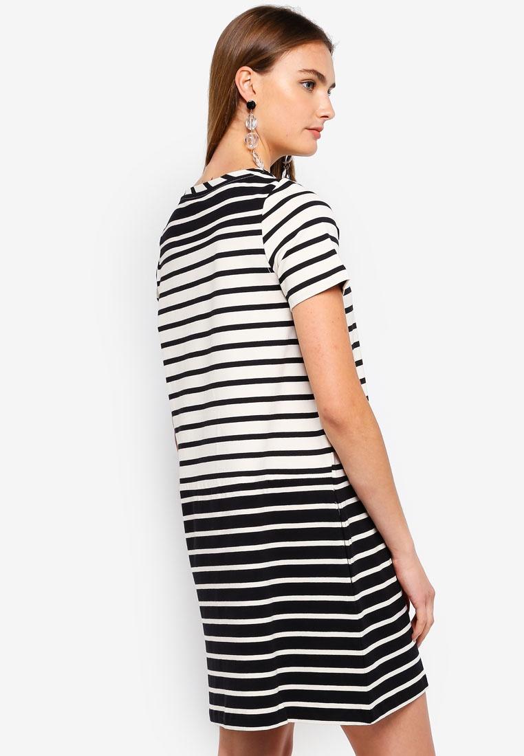 Sleeve Pocket Short Dress Cream Black Tim Classic Connection French Tim pwvAxB