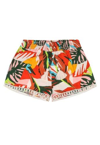 Shiwi red and multi Girls Frangipani Woven Shorts 9A5E6KA69F1C69GS_1