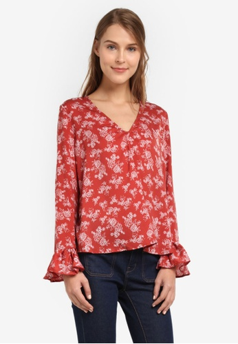 The Fifth Label red Ophelia Long Sleeve Top TH664AA0SF8LMY_1