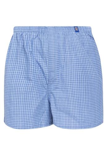 Sunjoy blue Checkered Boxer Shorts 8DB7CUSC01B401GS_1