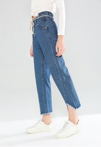 London Rag blue Denim Jeans with Frayed Bottom construction AC6CAAA3EFD92CGS_1