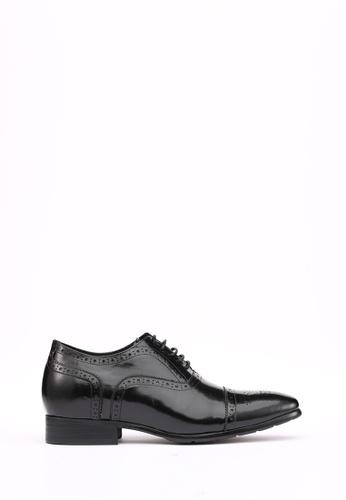 Kings Collection black Santoni Brogues (3 inches heel) KI358SH51DGASG_1