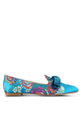 Velvet blue Floral Jacquard Loafer 8A1B1SHB5FB6B0GS_1