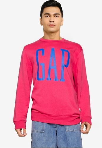 GAP pink Logo Sweatshirt 86A8BAA03E7CC6GS_1