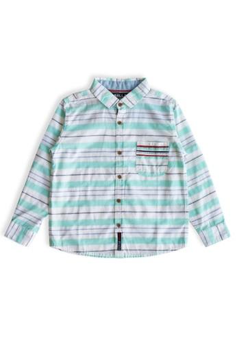 Osella Kids green Osella Baju Anak Laki Laki Kemeja Lengan Panjang Stripe Green. 24CA1KA4B51A2EGS_1
