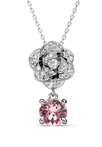 Her Jewellery Glamour Rose Pendant -  Made with premium grade crystals from Austria HE210AC61RHASG_1