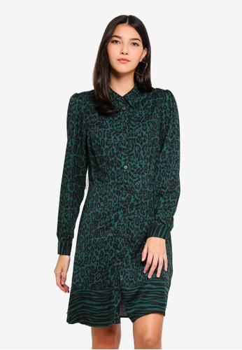 6b7bafe39c2 Buy WAREHOUSE Mixed Animal Shirt Dress Online on ZALORA Singapore