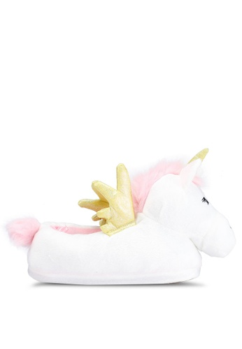 69cf7670aca6 Buy Dorothy Perkins Cream Unicorn Slippers Online on ZALORA Singapore