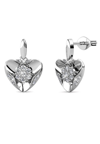 Her Jewellery silver Gusto Earrings (White Gold) -  Embellished with Crystals from Swarovski® 67324ACE7378EDGS_1