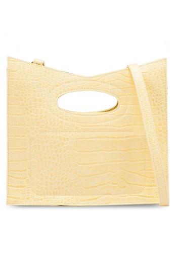nose yellow Faux Croc Tote Bag DFC7CACA59E81FGS_1