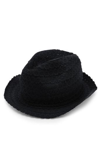 OVS 黑色 鏤空花卉帽 F3994AC6DC77A3GS_1