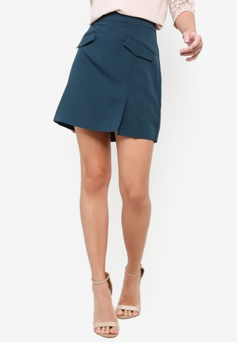ZALORA green Pockets Details Skirt 6C5A1AA96A4AE4GS_1