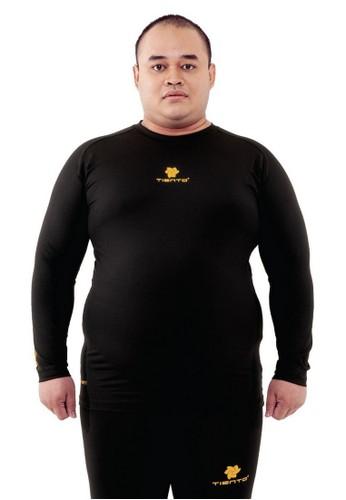 Tiento black Tiento Man Baselayer Big Size Baju Ketat Manset Olahraga Pria Long Sleeve Black Gold Rashguard Sport Original 7C00DAAE3DB542GS_1