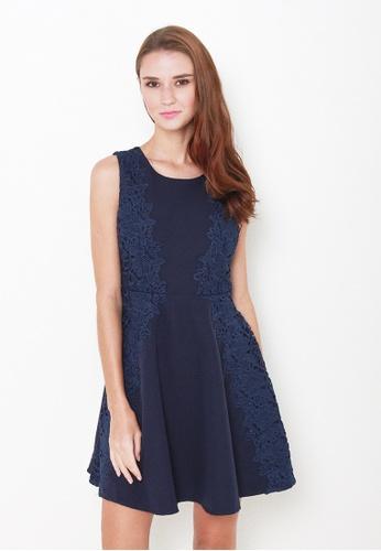 Leline Style blue Leana Crotchet Dress LE802AA15IOESG_1