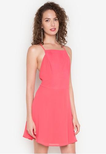 Twenteen pink Florence Pink Chiffon Zip Up Dress TW408AA0JCN9PH_1
