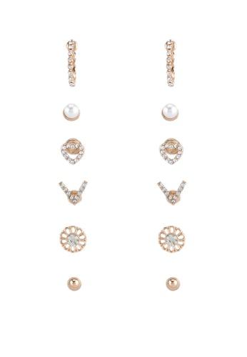 Call It Spring white Merl Earrings CA512AC0SFE3MY_1