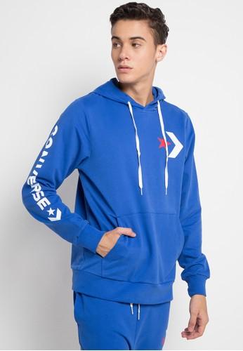 Converse blue Star Chevron Pullover Hoodie Slim Fit 3AB05AACB8AEE8GS_1