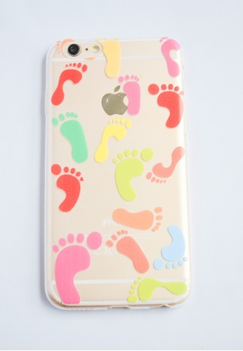 Fancy Cellphone Cases multi Colorful Feet Soft Transparent Case for iPhone 6 FA644AC00ZKPPH_1