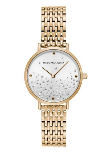 BCBG gold BCBGMAXAZRIA BG50990002 White and Gold Stainless Steel Watch 79F7DACE74E425GS_1