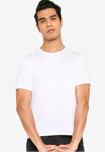 Nike white Dri-Fit Miler Running Top 1B86BAAA6808D2GS_1