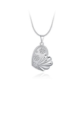 Glamorousky white Elegant Fashion Pretty Fish Austrian Element Crystal Pendant Necklace 22F10AC0127CE0GS_1