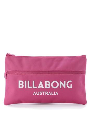 Billabong pink Essential Pencil Case AD43DAC98E9C75GS_1