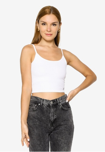 Hollister white Bare Cinch Point Cami Top 95734AAE7FDDD9GS_1