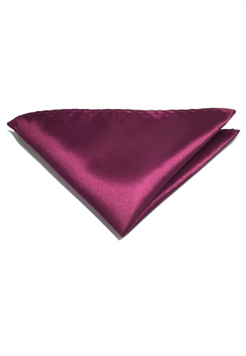 Splice Cufflinks Lustrous Series Plum Purple Polyester Pocket Square SP744AC63KUESG_1