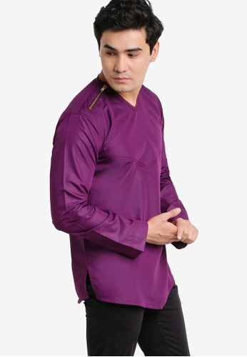 Amar Amran purple Kurta Yusuf AM362AA88JWLMY_1
