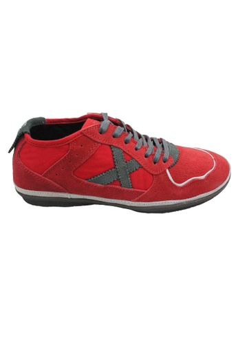 midzone red Suede Leather Sneaker MI949SH62XERMY_1