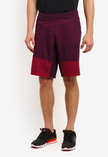 adidas red adidas performance crazy Training Shorts gfx2 AD372AA0RS89MY_1